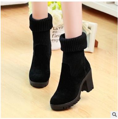 Boots cổ len - VKLH30360008