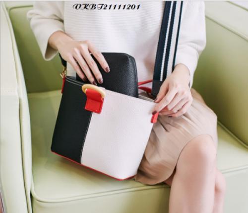 Túi xách nữ phối mà quai vải - VKBT21111201