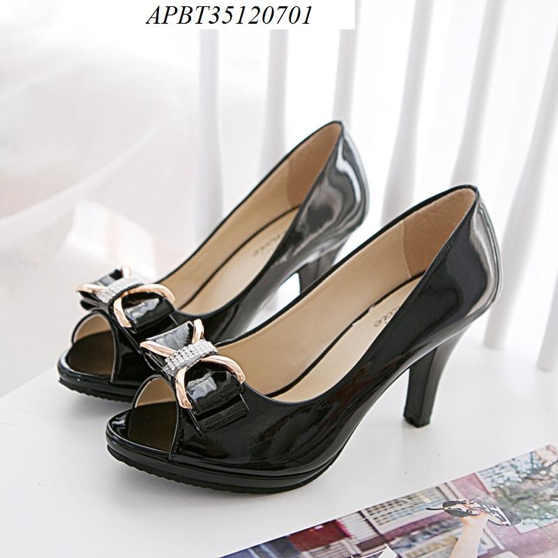 giày cao gót hở mũi - APBT35120701