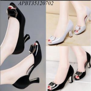 giày cao gót hở mũi nơ vuông - APBT35120702