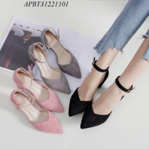 giày cao gót da lộn - APBT31221101
