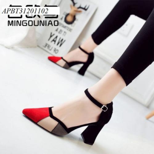 giày cao gót phối màu - APBT31201102